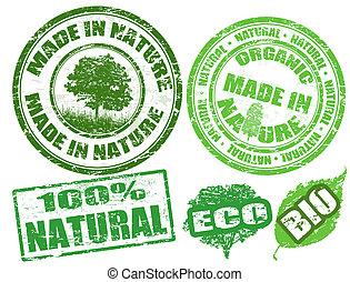 francobolli, fatto, natura