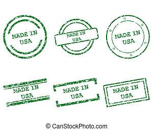 francobolli, fatto, stati uniti