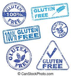 francobolli, gluten, libero