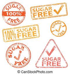 francobolli, libero, zucchero