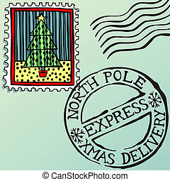 francobolli, natale