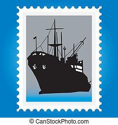 francobolli, navi