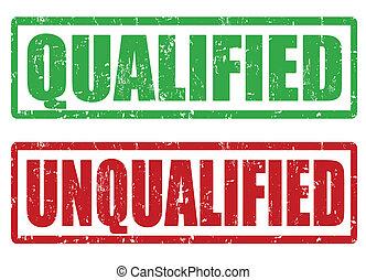 francobolli, qualificato, unqualified
