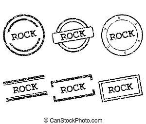 francobolli, roccia