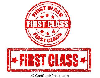 francobolli, set, classe, primo