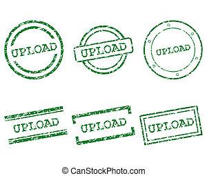 francobolli, upload