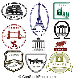 francobolli, viaggiare