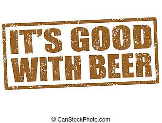 francobollo, è, birra, buono