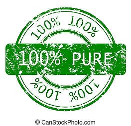 francobollo, 100%, ecologia, puro