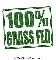francobollo, 100, erba, percento, federale