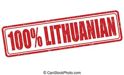 francobollo, 100, lituano, percento