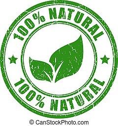 francobollo, 100, naturale