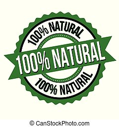 francobollo, 100%, naturale, o, segno