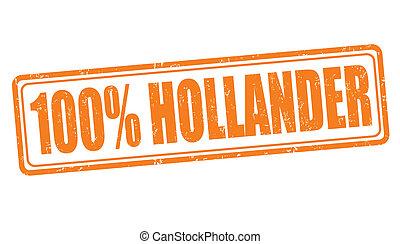 francobollo, 100 percento, hollander