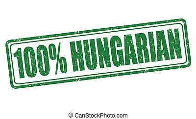 francobollo, 100 percento, ungherese