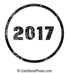 francobollo, 2017, inchiostro nero