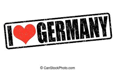 francobollo, amore, germania