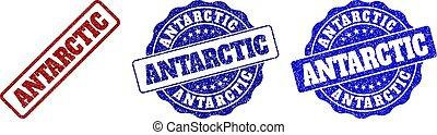 francobollo, antartico, grunge, sigilli