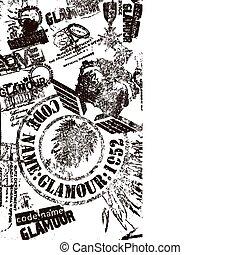 francobollo, aquila, illustrazione