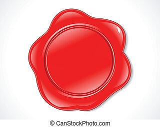 francobollo, astratto, baluginante, rosso