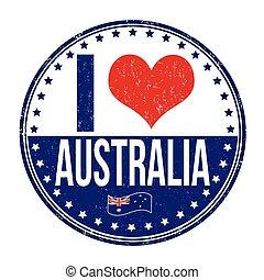francobollo, australia, amore