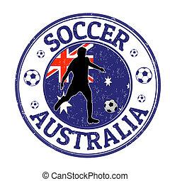francobollo, australia, calcio