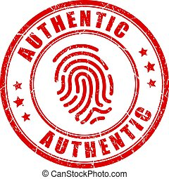 francobollo, autentico, prodotto, vettore, unico