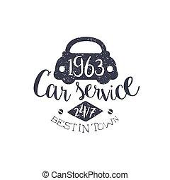 francobollo, automobile, meglio, servizio, vendemmia