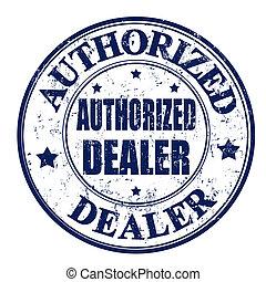 francobollo, autorizzato, commerciante