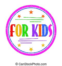 francobollo, bambini, o, segno