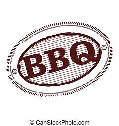 francobollo, barbecue