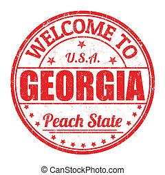 francobollo, benvenuto, georgia