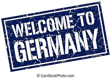 francobollo, benvenuto, germania