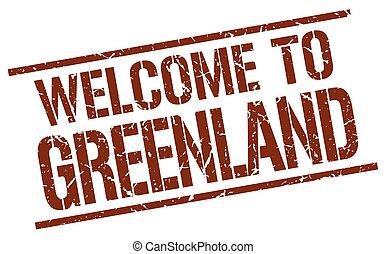 francobollo, benvenuto, groenlandia