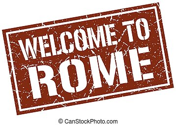 francobollo, benvenuto, roma