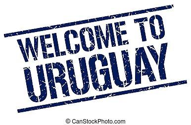 francobollo, benvenuto, uruguay