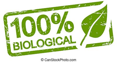 francobollo, biologico, 100%, verde
