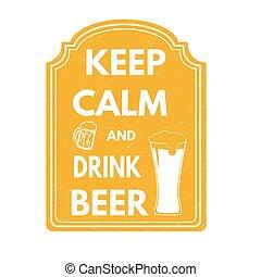 francobollo, birra, bevanda, calma, custodire