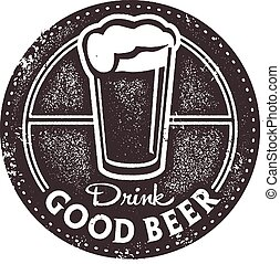 francobollo, birra, buono, sbarra, bevanda