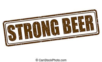 francobollo, birra, forte