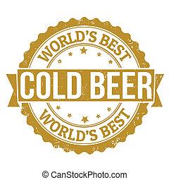 francobollo, birra fredda
