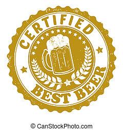 francobollo, birra, meglio