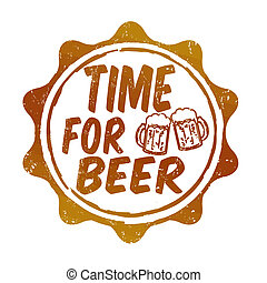 francobollo, birra, tempo