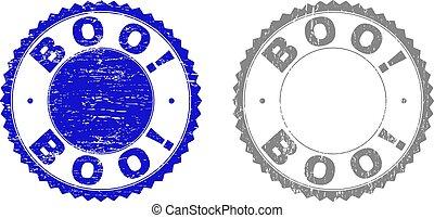 francobollo, boo!, textured, grunge, sigilli
