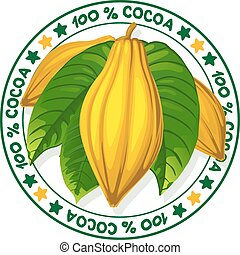 %, francobollo, -, cacao, vettore, 100