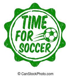 francobollo, calcio, tempo