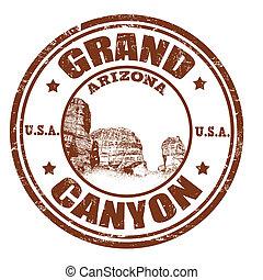 francobollo, canyon, grande