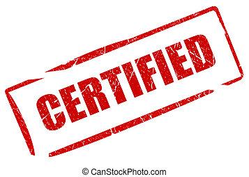 francobollo, certificato