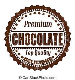 francobollo, cioccolato