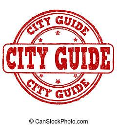 francobollo, città, guida